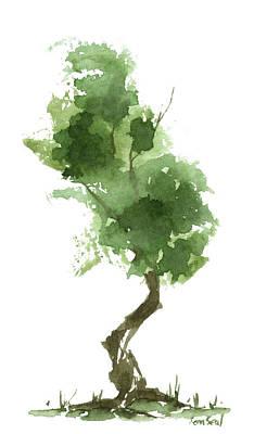 Little Zen Tree 187 Print by Sean Seal