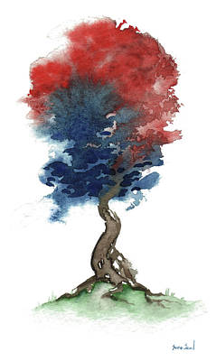 4th Of July Painting - Little Zen Tree 290 by Sean Seal
