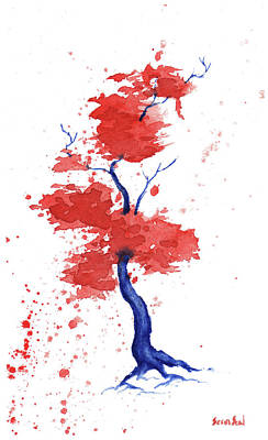 Independence Day Painting - Little Zen Tree 293 by Sean Seal