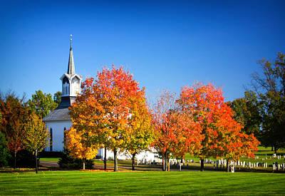 Zion Lutheran Church Photograph - Little Zion Church In The Fall by Carolyn Derstine