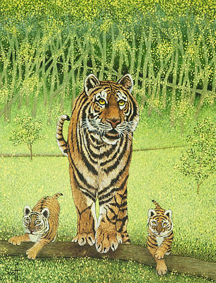The Tiger Painting - Live And Learn by Pat Scott
