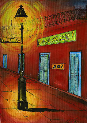 Painting - Live Music On Bourbon Street by Catherine Wilson