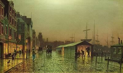 Liverpool Docks Print by John Atkinson Grimshaw