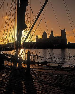 Photograph - Liverpool, England View From Albert Dock by The Irish Image Collection