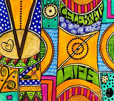 Art Therapy Mixed Media - Living A Vibrant Life by Angela L Walker