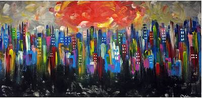 Painting - Living Color In Manhattan by Mac Worthington