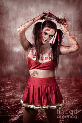 Cheerleaders Photograph - Living Dead School Girl In Headline Nightmare by Jorgo Photography - Wall Art Gallery