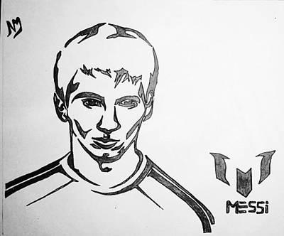 Messi Drawing - Living Legend Of Football by Nabin Marjan