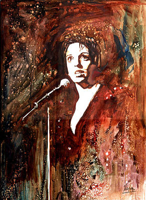 Frank Sinatra Mixed Media - Liza by Marcelo Neira