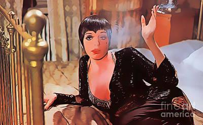 Judy Garland Painting - Liza Minnelli Smoking Hot by Pd