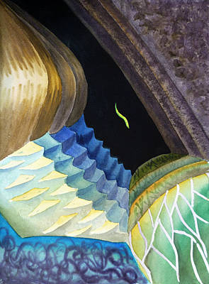 Fauna Painting - Lizard Skin Abstract II by Irina Sztukowski