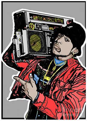 Stanley Slaughter Digital Art - Ll Cool J Radio 1985 by Stanley Slaughter Jr