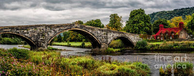 Courthouse Photograph - Llanrwst Bridge Panorama by Adrian Evans