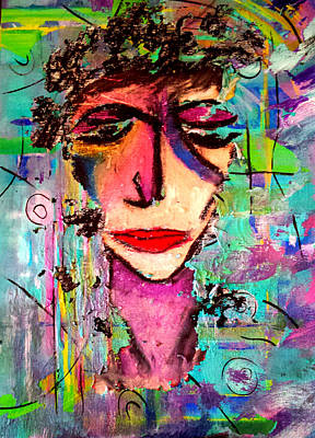 Femal Portrait Painting - Lost In Thought by Nikki Dalton