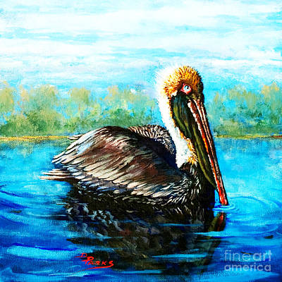 Waterfowl Painting - L'observateur by Dianne Parks