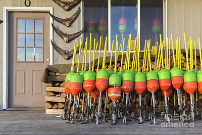 Bouys Photograph - Lobster Buoys Kittery Maine by Edward Fielding