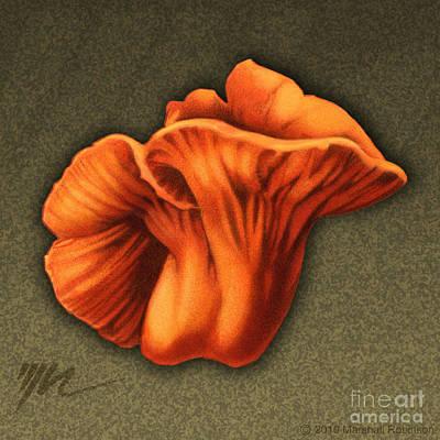 Mushroom Drawing - Lobster Mushroom by Marshall Robinson