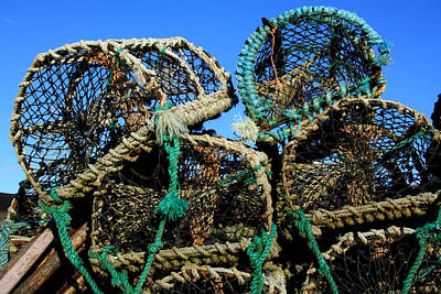 Lobster Pots Print by Aidan Moran