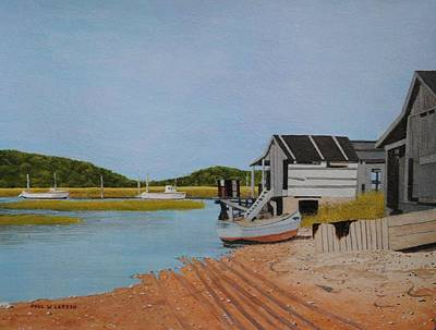 Lobster Shacks In Ellisville Harbor Original by Paul Larson