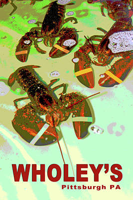 Lobsters Print by Eclectic Art Photos