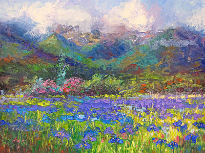 Irises Painting - Local Color by Talya Johnson