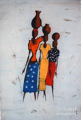 Baobab Painting - Local Transport by Mussa Chiwaula