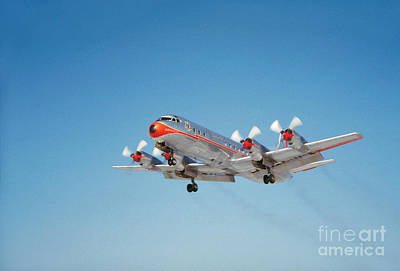 Lockheed L-188b Electra American Airlines Aal Print by Wernher Krutein