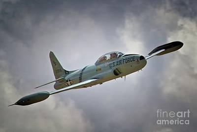 Jet Star Digital Art - Lockheed P-80 Shooting Star 2011 Chino Air Show by Gus McCrea