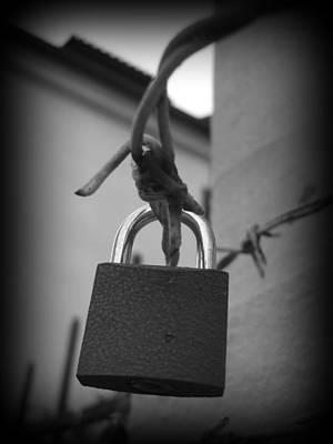 Locking Love Print by Haley Evans