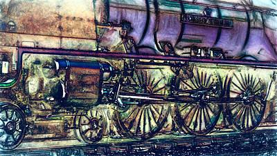 Locomotive Three Print by John K Woodruff