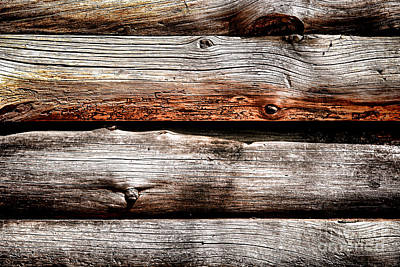 Old Log Cabin Photograph - Log Cabin Wall by Olivier Le Queinec