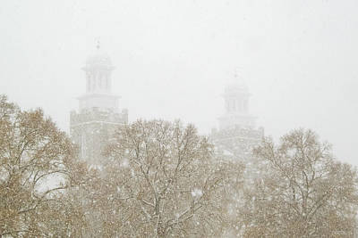 Logan Temple In Snow Print by Greg Collins