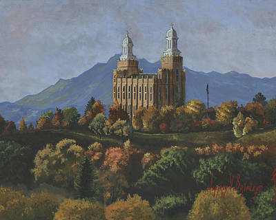 Lds Painting - Logan Temple by Jeff Brimley