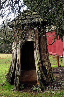Loggers Outhouse Print by Clayton Bruster