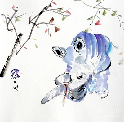 Poachers Painting - Rip Nola - Nola At The San Diego Zoo by Ming Yeung