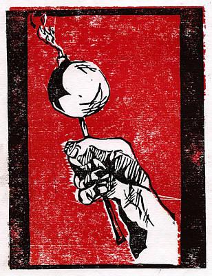 Lolli-bomb Print by Bradley Hendricks