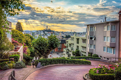 San Francisco Street Photograph - Lombard Street In San Francisco by James Udall
