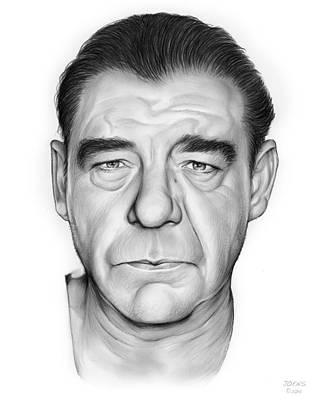 Hollywood Drawing - Lon Chaney Jr. by Greg Joens