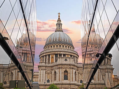 Old Home Place Photograph - London Awakes - St. Pauls Cathedral by Gill Billington