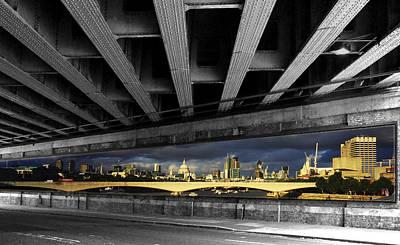 London Bridge Under The Bridge Print by David French
