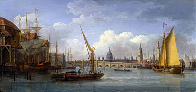 William Anderson Painting - London Bridge With St Paul's Cathedral In The Distance by William Anderson