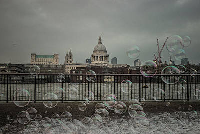 St Pauls Cathedral Photograph - London Bubbles by Martin Newman