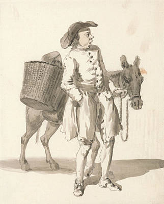 Donkey Drawing - London Cries - Boy With A Donkey by Paul Sandby
