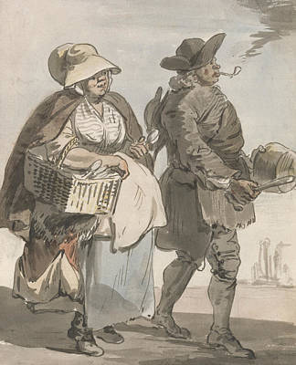 18th Century Painting - London Cries - Do You Want Any Spoons by Paul Sandby