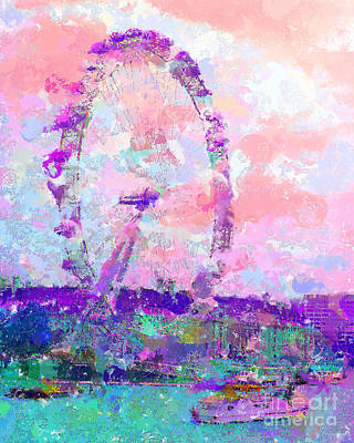 London Eye Mixed Media - London Eye by Marilyn Sholin