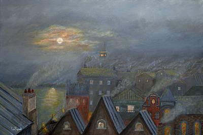 Spooky Painting - London Fog by Ken Figurski