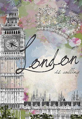 Royalty Digital Art - London Is Calling by Jodi Pedri