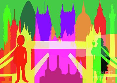 Westminster Abbey Mixed Media - London Landmarks by Neil Finnemore