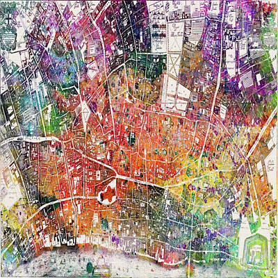 Big Cities Digital Art - London Map  by Mark Ashkenazi