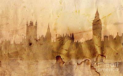 Big Ben Drawing - London by Michal Boubin
